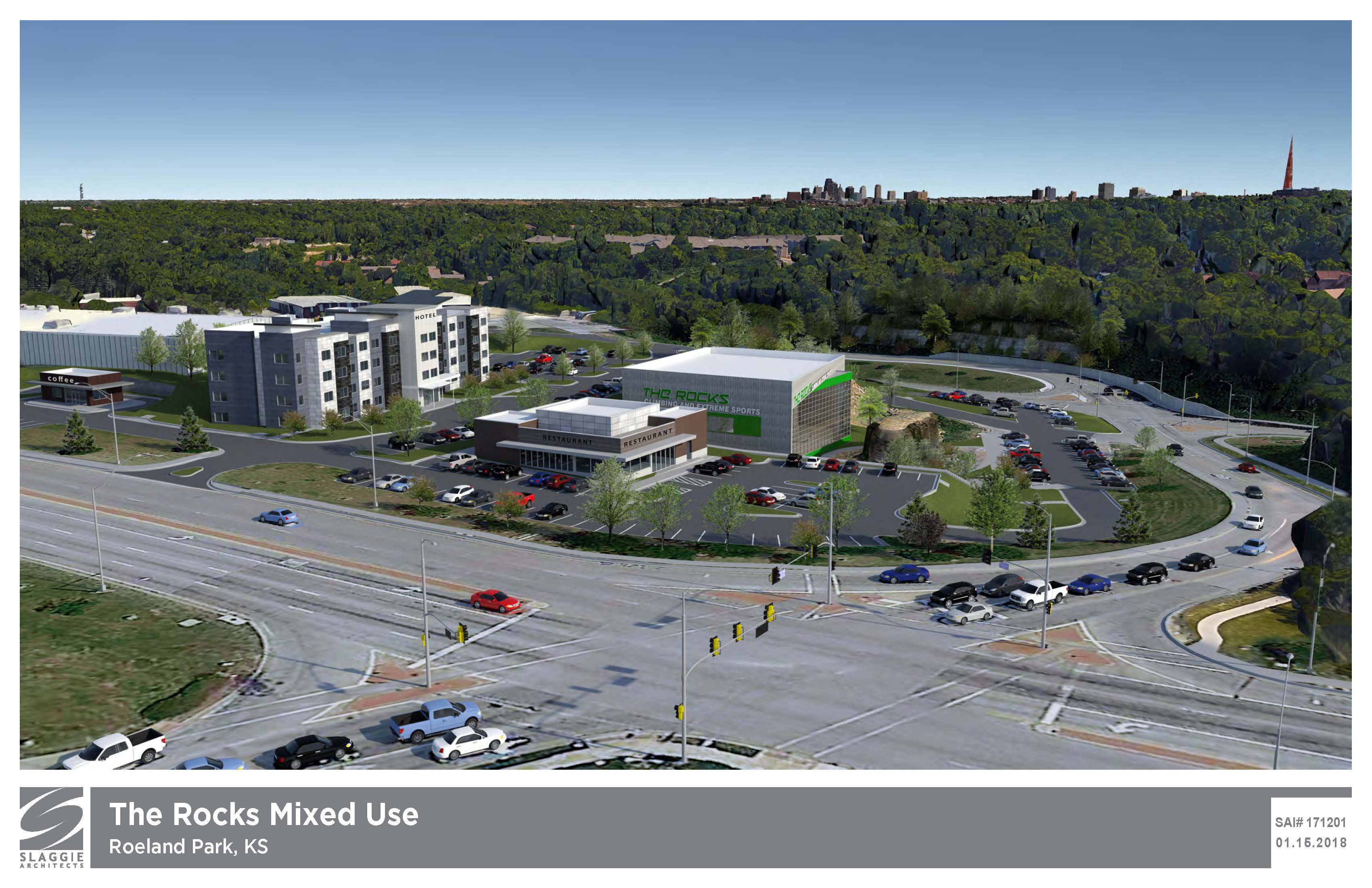 Rendering of The Rocks Site