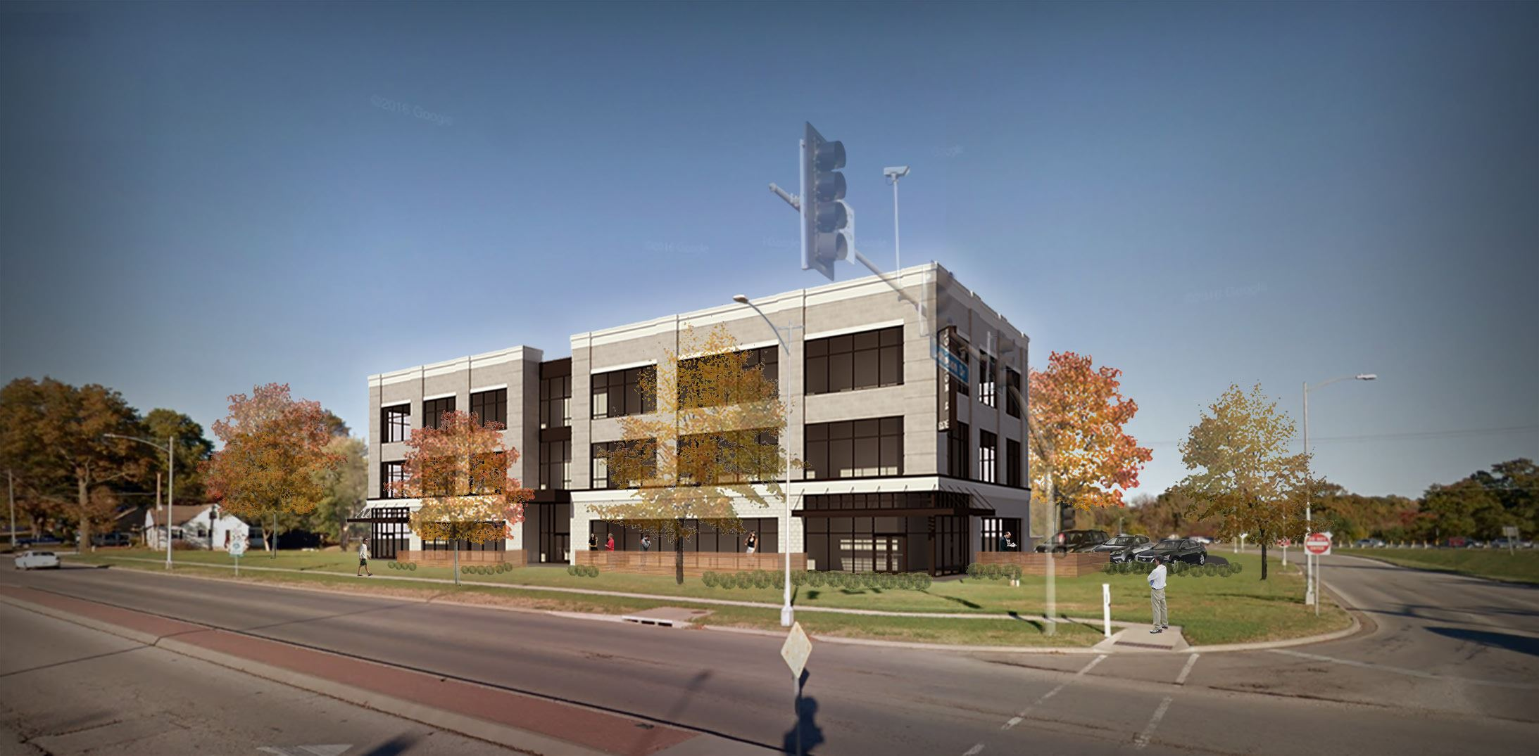 Colliers Rendering of a 3 Story Building Johnson and Roe