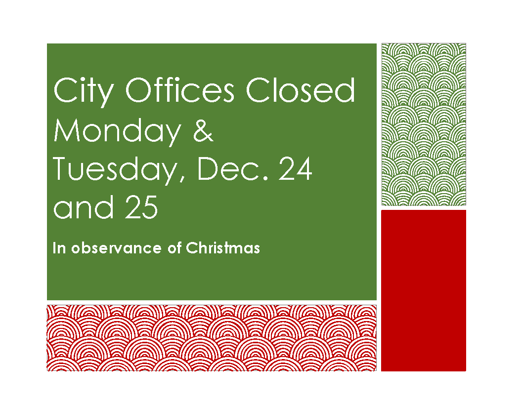 Offices Closed Sign - Christmas