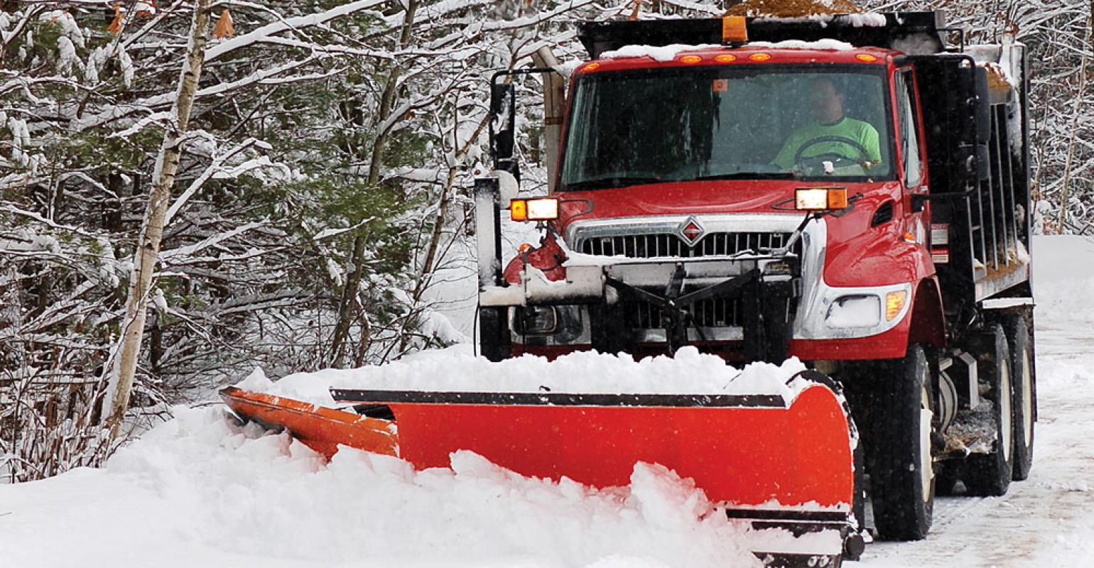 red snowplow