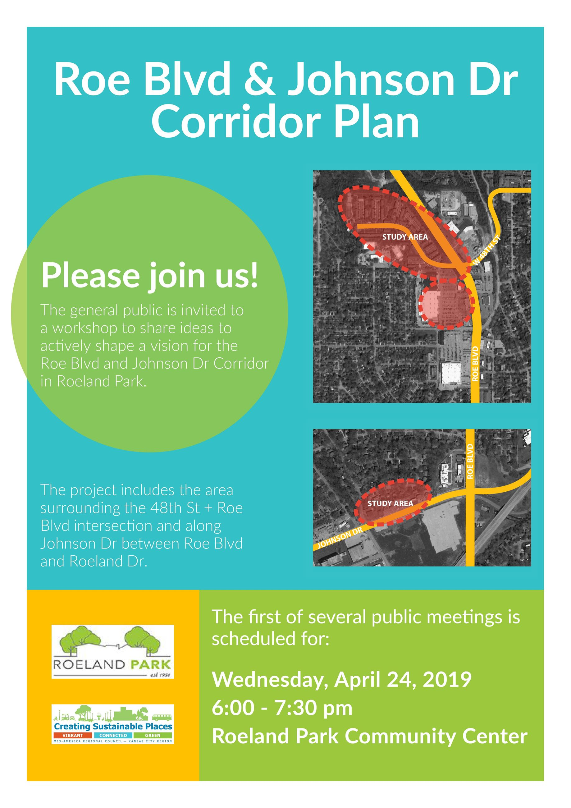 Roe Blvd and Johnson Dr Public Meeting Roeland Park PM1 Flyer_DRAFT