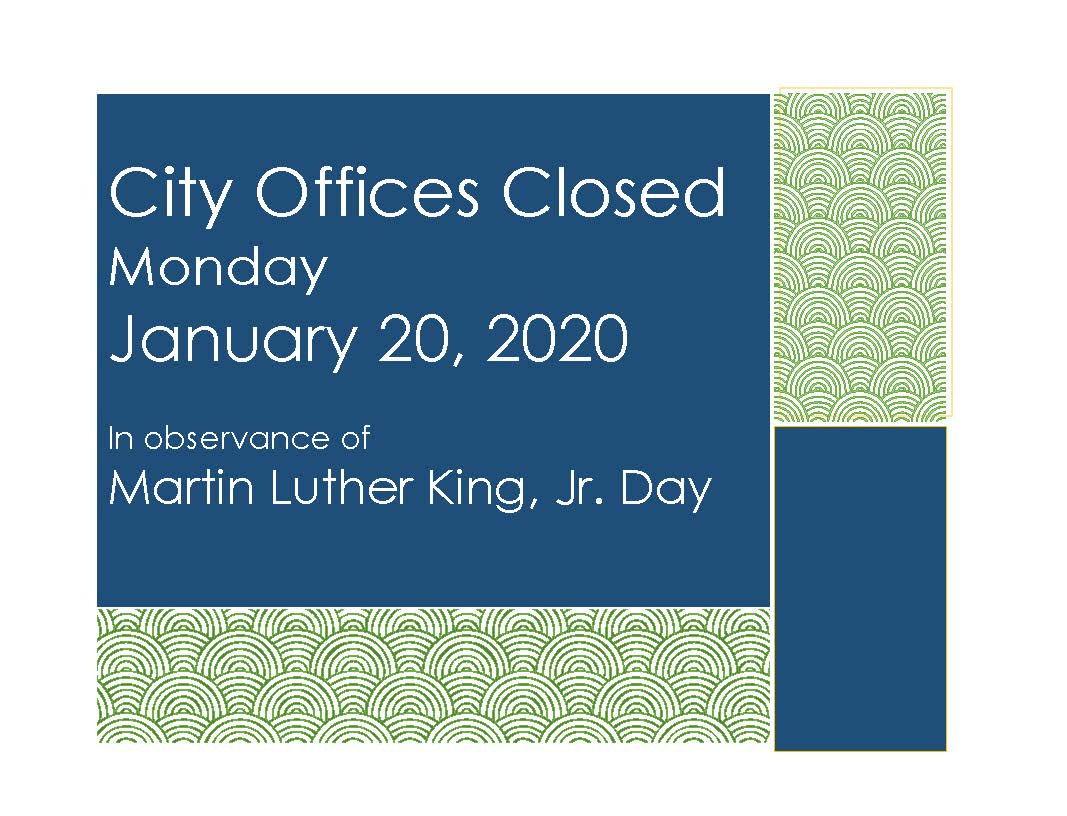 Office Closed Sign - MLK Day