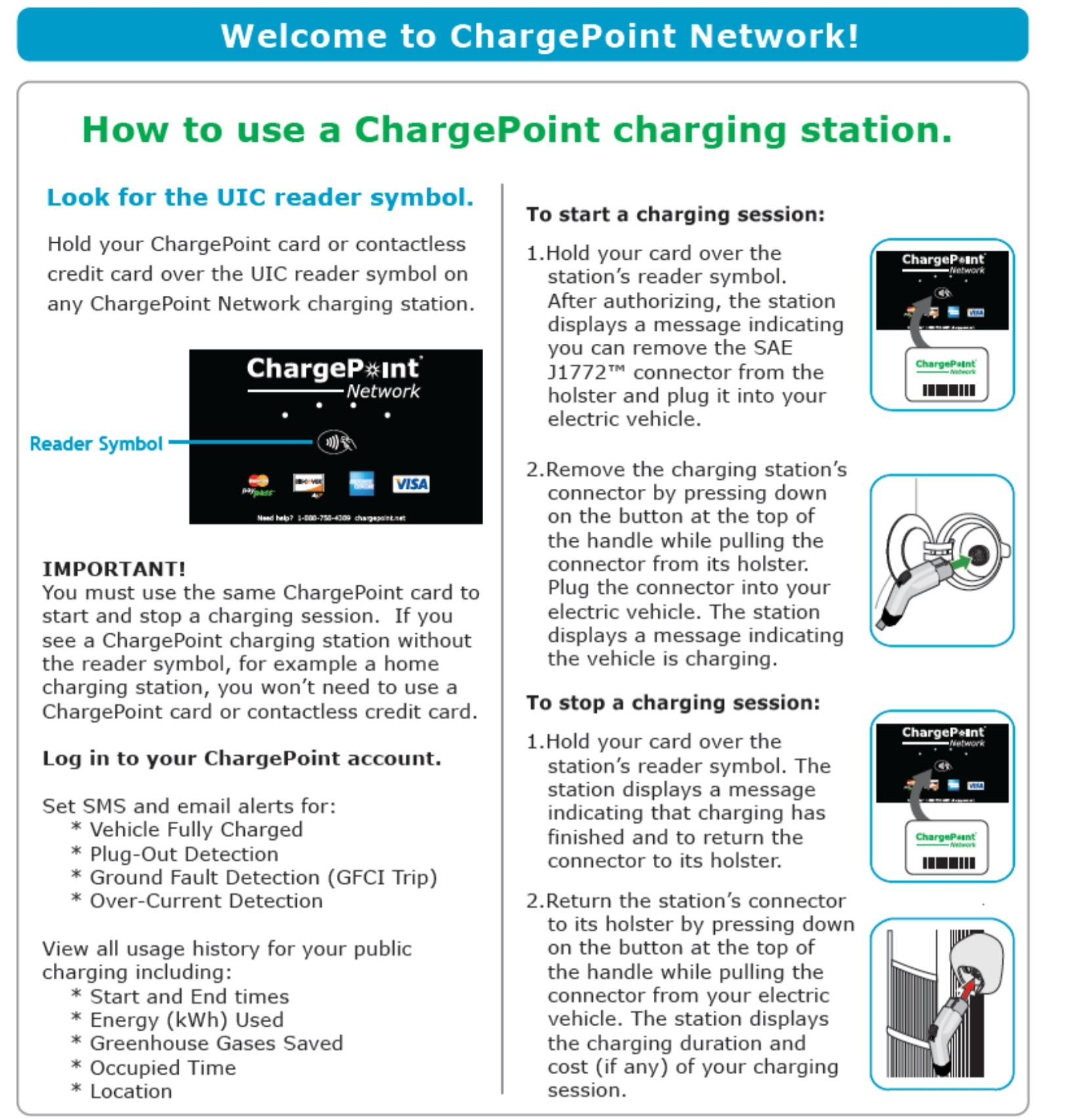 How to Use a Chargepoint Charging Station (PDF)
